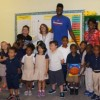 NBA star Nerlens Noel spends Tuesday morning at Douglass Academy!